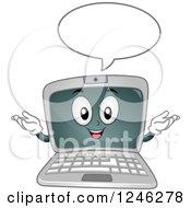 Poster, Art Print Of Cartoon Laptop Computer Character Talking