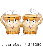 Clipart Of Happy Bongos Playing Themselves Royalty Free Vector Illustration by BNP Design Studio