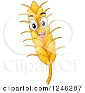 Happy Wheat Mascot