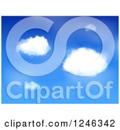 Clipart Of A Blue Sky And Fluffly Clouds Background Royalty Free Vector Illustration