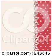 Clipart Of A Lace Panel Over Pink Polka Dots Royalty Free Vector Illustration