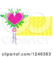 Tropical Floral Heart And Zig Zags