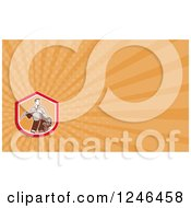Clipart Of An Orange Ray Farmer Background Or Business Card Design Royalty Free Illustration