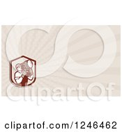 Clipart Of A Ray Lighting Crew Man Background Or Business Card Design Royalty Free Illustration