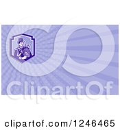 Clipart Of A Ray Scottish Bagpiper Background Or Business Card Design Royalty Free Illustration by patrimonio