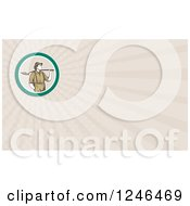 Clipart Of A Ray Prospector Background Or Business Card Design Royalty Free Illustration by patrimonio
