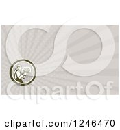Clipart Of A Ray Pizza Chef Background Or Business Card Design Royalty Free Illustration