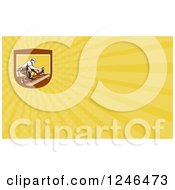 Clipart Of A Yellow Ray Roofer Background Or Business Card Design Royalty Free Illustration