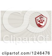 Ray Worker With A Spanner Wrench Background Or Business Card Design