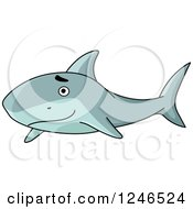 Clipart Of A Happy Shark Royalty Free Vector Illustration by Vector Tradition SM