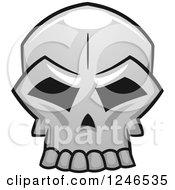 Clipart Of A Monster Skull Royalty Free Vector Illustration