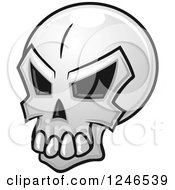 Clipart Of A Skull Royalty Free Vector Illustration