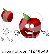 Clipart Of Red Apples Royalty Free Vector Illustration