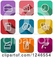 Clipart Of A Colorful Business Icons Royalty Free Vector Illustration