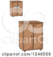 Clipart Of Cabinets Royalty Free Vector Illustration