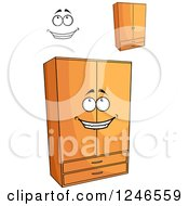 Clipart Of Wardrobes Royalty Free Vector Illustration
