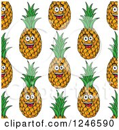 Clipart Of A Seamless Pinepaple Background Royalty Free Vector Illustration