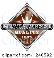 Clipart Of A Guaranteed Premium Quality Label Royalty Free Vector Illustration by Vector Tradition SM
