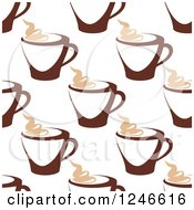 Clipart Of A Seamless Hot Coffee Background Pattern 2 Royalty Free Vector Illustration