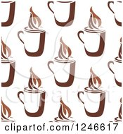 Clipart Of A Seamless Hot Coffee Background Pattern 3 Royalty Free Vector Illustration
