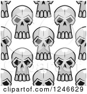Clipart Of A Seamless Background Pattern Of Monster Skulls 3 Royalty Free Vector Illustration