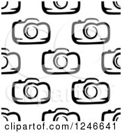 Clipart Of A Seamless Black And White Camera Background Pattern Royalty Free Vector Illustration by Vector Tradition SM