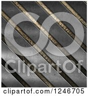 Clipart Of A 3d Diagonal Metal Background Royalty Free Illustration