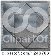 Clipart Of A 3d Metal Background Of Scratched Plates Royalty Free Illustration
