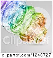 Clipart Of A Background Of An Abstract Tunnel Of Colors And Light Royalty Free Vector Illustration