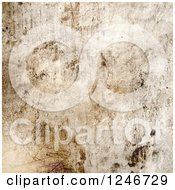 Clipart Of A Grungy Scratched Stone Background Royalty Free Illustration by KJ Pargeter