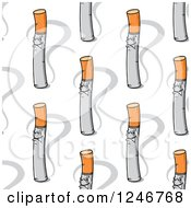 Clipart Of A Seamless Cigarette Background Pattern Royalty Free Vector Illustration