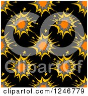 Clipart Of A Seamless Explosion Background Pattern Royalty Free Vector Illustration