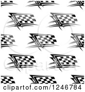 Clipart Of A Seamless Background Pattern Of Checkered Racing Flags Royalty Free Vector Illustration
