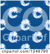 Clipart Of A Seamless Waves Background Pattern Royalty Free Vector Illustration