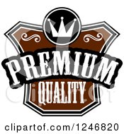 Clipart Of A Premium Quality Label Royalty Free Vector Illustration