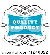 Clipart Of A Quality Product Label Royalty Free Vector Illustration
