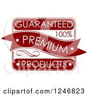 Clipart Of A Guaranteed Premium Quality Label Royalty Free Vector Illustration