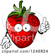 Clipart Of A Strawberry Royalty Free Vector Illustration