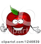 Clipart Of A Red Apple Character Royalty Free Vector Illustration