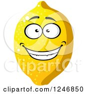 Clipart Of A Lemon Character Royalty Free Vector Illustration