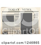 Clipart Of A Newspaper Royalty Free Vector Illustration by Vector Tradition SM