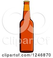 Clipart Of A Beer Bottle Royalty Free Vector Illustration