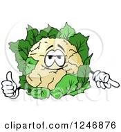Clipart Of A Cauliflower Character Royalty Free Vector Illustration