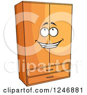 Clipart Of A Wardrobe Character Royalty Free Vector Illustration