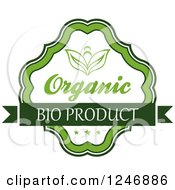 Clipart Of A Green Organic Bio Product Label Royalty Free Vector Illustration