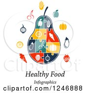 Clipart Of A Puzzle Piece Pear Infographics Diagram With Icons And Healthy Food Infographics Text Royalty Free Vector Illustration by Vector Tradition SM