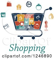 Clipart Of A Puzzle Piece Shopping Cart Infographics Diagram With Icons And Text Royalty Free Vector Illustration by Vector Tradition SM