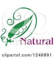 Clipart Of Natural Text With A Pea Pod Royalty Free Vector Illustration