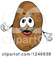 Clipart Of A Potato Character Royalty Free Vector Illustration