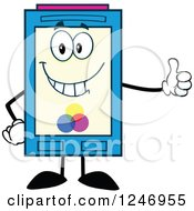 Clipart Of A Color Ink Cartridge Character Mascot Holding A Thumb Up Royalty Free Vector Illustration